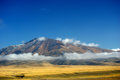 Bayanbulak could cloud around halfway up the mountain Royalty Free Stock Photos