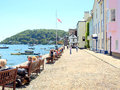 Bayard s quay dartmouth devon the historic cove where sailing ships departed to other lands like america and the indies from Stock Images