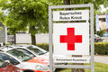 Bayerisches rotes kreuz sign infront of an office of the bavarian red cross Royalty Free Stock Photography
