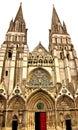 Bayeux domkyrka i normandie Fotografering för Bildbyråer