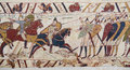Bayeux tapestry detail of the depicting the norman invasion of england in the th century Stock Photo
