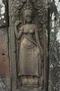 Bayon angkor wat siem reap cambodia reliefs of in Royalty Free Stock Photo