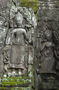 Bayon angkor wat siem reap cambodia reliefs of in Royalty Free Stock Images