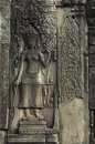 Bayon angkor wat siem reap cambodia reliefs of in Royalty Free Stock Photography
