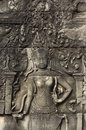 Bayon angkor wat siem reap cambodia reliefs of in Stock Photo