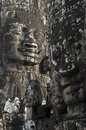 Bayon angkor wat siem reap cambodia temples faces of temple Stock Photography