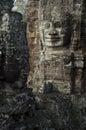 Bayon angkor wat siem reap cambodia temples faces of temple Stock Image