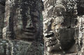 Bayon angkor wat siem reap cambodia temples faces of temple Royalty Free Stock Image