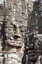 Bayon Face at Bayon temple Royalty Free Stock Photo