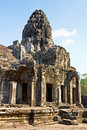 Bayon part of in agkor thom siem reap cambodia Royalty Free Stock Photo