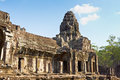 Bayon part of in agkor thom siem reap cambodia Royalty Free Stock Photos