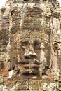 The Bayon  temple at Angkor. Stock Photography