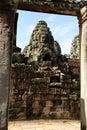 Bayon temple, Angkor,  Cambodia Royalty Free Stock Photo