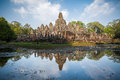 Bayon temple in cambodia near siem reap Stock Photo