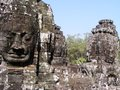 Bayon temple in siem reap cambodia Stock Photos