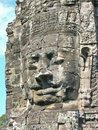 Bayon Temple Stone face Cambodia Royalty Free Stock Photo