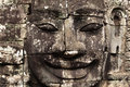 Bayon temple stone face in detail, Angkor wat, Cam Royalty Free Stock Image