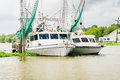 Bayou Shrimp Boats Royalty Free Stock Photo