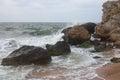 Bays of the karalarsky natural landscape park crimea Stock Images