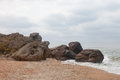 Bays of the karalarsky natural landscape park crimea Royalty Free Stock Image
