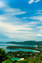 Bays view point in phuket Stock Image