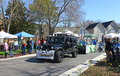 Baystars parade float gloucester virginia april in the daffodil on april in gloucester virginia in its th year the Stock Photo