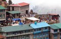 Bazaar in Namche Bazar village Royalty Free Stock Photo