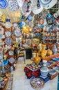 Bazaar shops in turkey ceramic Royalty Free Stock Photo