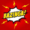 Bazinga comic speech bubble cartoon Royalty Free Stock Images
