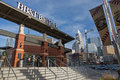 Bb t ballpark charlotte nc december home of the aaa minor league charlotte knights baseball team affiliated with the chicago white Stock Photo