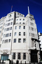 Bbc broadcasting house built in an art deco style in in portland place regent street london england uk was the original Royalty Free Stock Photo
