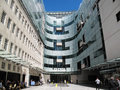 Bbc new broadcasting house london united kingdom may entrance to in portland place which came in to use in Royalty Free Stock Image