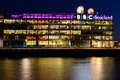 Bbc scotland glasgow s headquarters at night uk Royalty Free Stock Photography