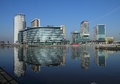 BBC Studios at Salford Quays Stock Image
