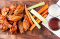Bbq chicken wings oven roasted healthy baked instead of fried Stock Images