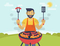 BBQ cooking party Royalty Free Stock Photo