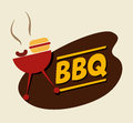 Bbq design over beige background vector illustration Royalty Free Stock Photography