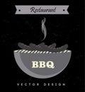 Bbq design over black background vector illustration Royalty Free Stock Images