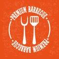Bbq design over orange background vector illustration Royalty Free Stock Images