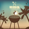 Bbq design over pattern background vector illustration Royalty Free Stock Photos