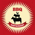 Bbq design over red background vector illustration Stock Photography