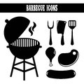 Bbq design over white background vector illustration Stock Photos