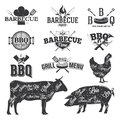 BBQ Emblems and Logos Royalty Free Stock Photo