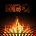 Bbq fire grille illustration in vector Stock Images