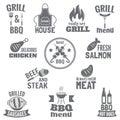 Bbq grill label