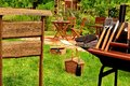 BBQ Grill Scene in the Backyard Royalty Free Stock Photo