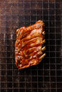 BBQ grilled pork ribs Royalty Free Stock Photo