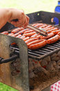 BBQ Hot Dogs Royalty Free Stock Images