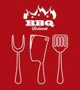 Bbq icon Royalty Free Stock Photo