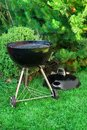 BBQ Kettle Grill Appliance On The Backyard Royalty Free Stock Photo